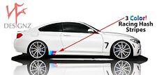 BMW M color Side Skirt 3 stripe Vinyl Decal FITS ALL BMW Nickos Graffix