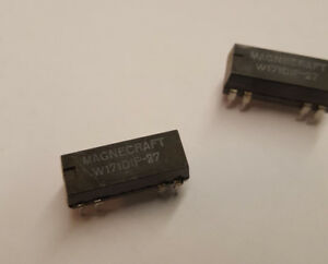 Lot of 2 Magnecraft W171DIP-25 Relay 5vdc .5a DPST NO w//clamping diode DIP