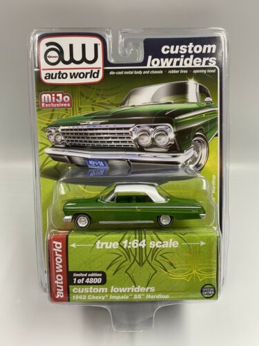 1:64 AUTO WORLD Custom Lowrider 1962 Chevy Impala SS CP7657