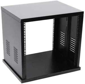 """8 HE 19"""" Stahl Rack Server Montage Netzwerk Studio Dimmer Tisch Rack ROADINGER"""