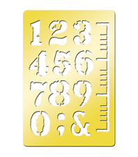 "Momenta Art-C Brass Template - Numbers 3.9""x2.6""  #703"