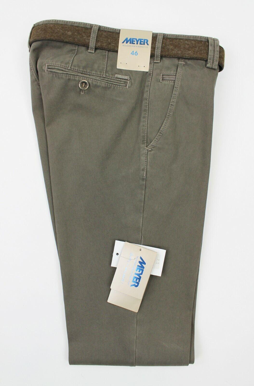 Meyer - Bonn Pima Cotton Trousers in Sage - 46   W30 L32 -  RRP