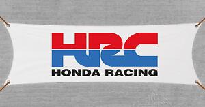 HONDA RACING HRC Flag 3X5 Black Banner Dirt Bike ATV Garage Man-Cave Bar Pub