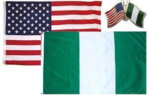 Wholesale Combo USA /& North Carolina State 2x3 2/'x3/' Flag /& Friendship Lapel Pin
