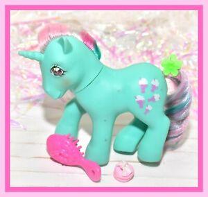 My-Little-Pony-MLP-G1-VTG-FIZZY-Jewel-Gem-Twinkle-Eye-Eyed-Green-Unicorn