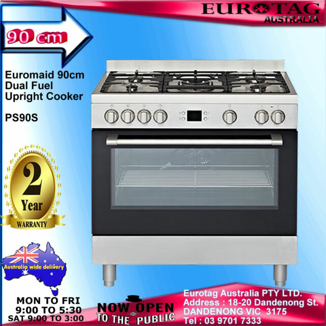 Euromaid 90cm Dual Fuel Upright Cooker PS90S BRAND NEW 2 YEARS WARRANTY