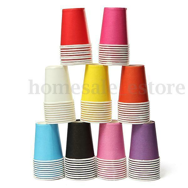 10/30x Xmas Colourful Paper Tableware Cups Party Wedding Paper Events Drinking