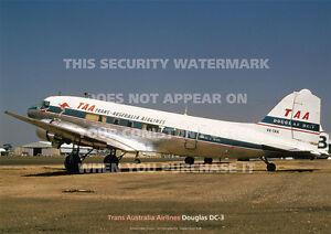 TAA-DOUGLAS-DC-3-DC3-A3-COLOUR-POSTER-PRINT-PICTURE-PHOTO-IMAGE