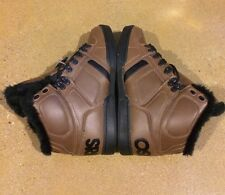 Osiris NYC 83 Shearling Size 7 US Brown Black BMX DC MOTO Skate Shoes $85 Box