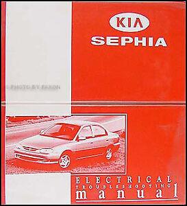 1998-1999 Kia Sephia Electrical Troubleshooting Manual | eBay
