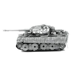 Metal-Earth-Tiger-I-Tank-3D-Laser-Cut-Metal-DIY-Model-Hobby-Military-Build-Kit