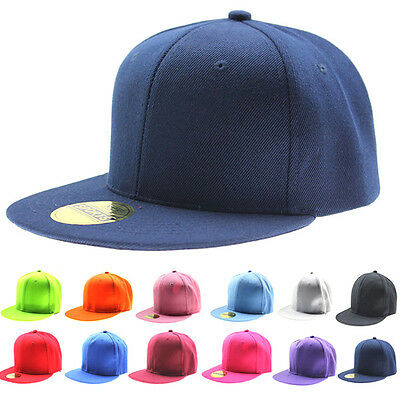 B-boy Hip-Hop Hat Baseball Cap Women/Men Adjustable Snapback Flat Sun Visor Hats