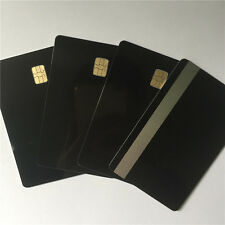 SLE 4442 Contact IC - Small Chip - black PVC Smart Card - HiCo 2 Track 100pcs