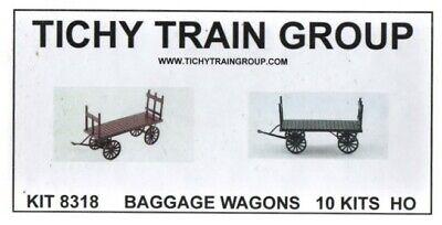 TICHY TRAINS  HO BAGGAGE WAGON KIT 2 8317