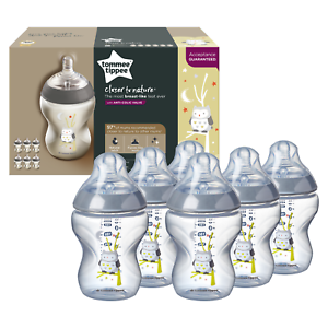 6-Tommee-Tippee-Baby-Feeding-Bottles-Closer-Nature-260ml-Decorated-Ollie-the-Owl