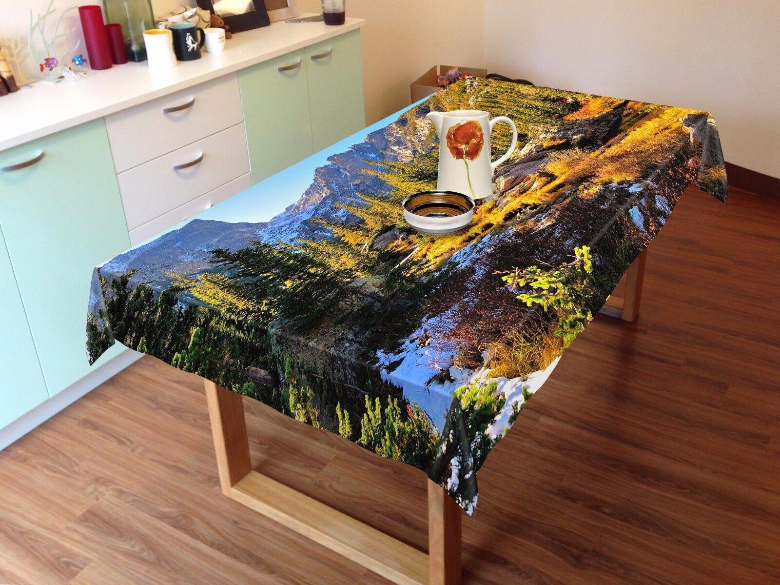 3D árbol de cielo Mantel Mantel Paño Cumpleaños Fiesta AJ Wallpaper Reino Unido Limón