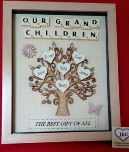 Grandchildren family tree picture personalised frame keepsake gift image is loading grandchildren family tree picture personalised frame keepsake gift negle