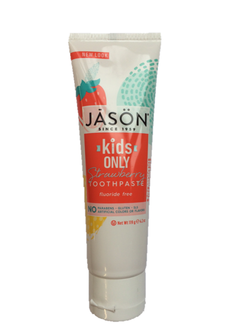Jason Kids Strawberry Toothpaste 119g Free From Flouride, SLS & Saccharin