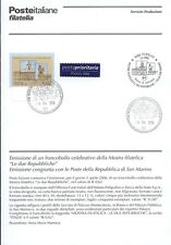 ITALY 2006 MOSTRA STAMP COLLECTION BULLETIN COMPLETE WITH CANCELLATION FDC