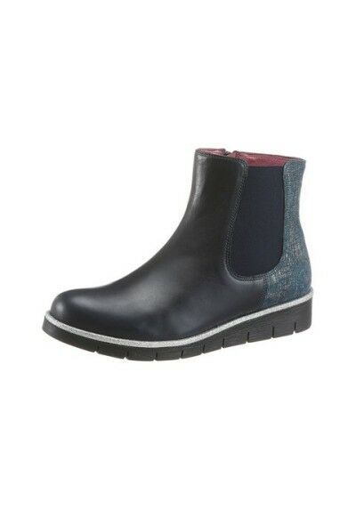 JJ Footwear Chelsea Boots aus Leder, Gr.43, black, black, black, neu b90179