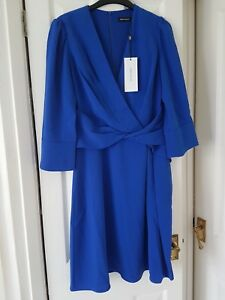 Karen Blue Millen Dress 10 Taille 14 TrTqA