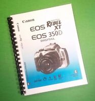 Color Printed Canon Eos Rebel Xt 350d Basic Manual 172 Pages Free Shipping