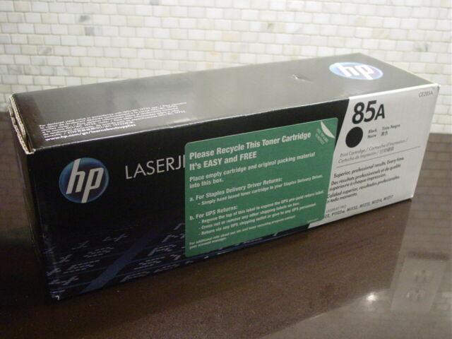 Genuine HP 85A CE285A Black Toner Laser Printer Ink Cartridge Sealed Box 2012