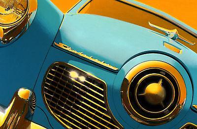 1951 Studebaker Automobile Hand Colored Photo mid century space age  futurama   eBay