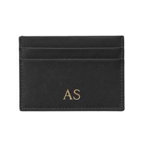 OLIVIA & CO. Saffiano Black Leather Wallet