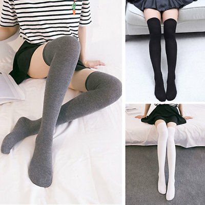 autumn shoes biggest discount super cheap Sexy Womens Girls Cotton Long Boot Socks Over Knee Thigh High Stockings  Socks | eBay