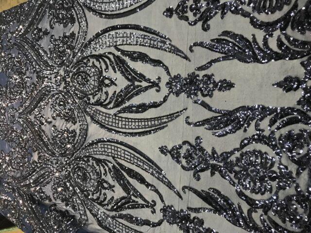 Q34 Navy Green Soft Mesh//Net Fabric Wedding Decor by Mt