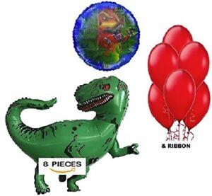 Cheerful Jurassic Dinosaur Happy Birthday Banner Balloons Party Supplies