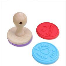 Wood Handle Molds Cookie Press Seal Biscuit Stamp Mold Pastry Cake Decorating