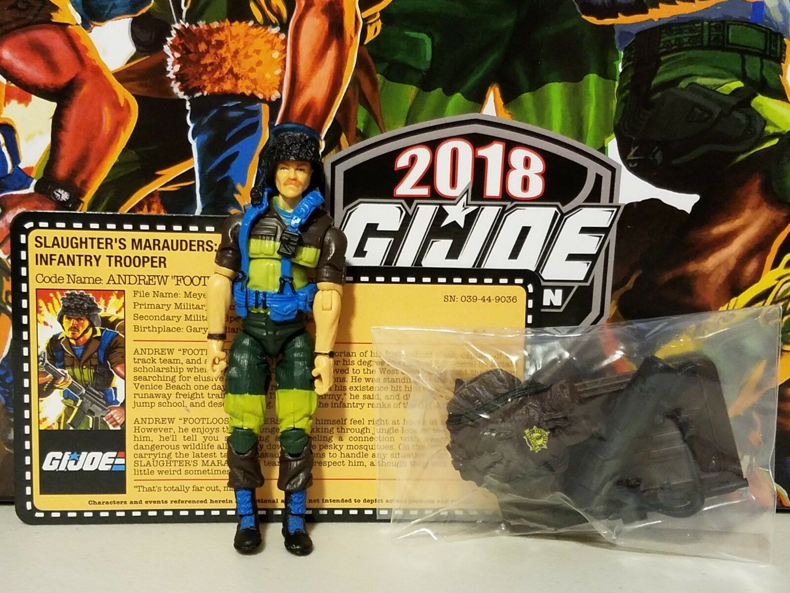 GI Joe Convention 2018 JoeCon Slaughter's Marauders Footloose LOOSE COMPLETE