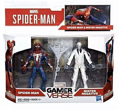 "MARVEL GAMER VERSE 3.75/"" SPIDERMAN MISTER NEGATIVE BLACK WIDOW RYD CIVIL WARRIOR"