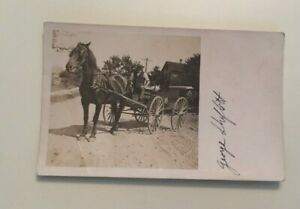 VINTAGE-POSTCARD-UNUSED-HORSE-AND-BUGGY-PENNY-POSTCARD