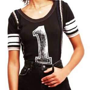 NWT-Free-People-98-First-Place-Tee-Large-Short-Sleeve-Black-Runs-Big