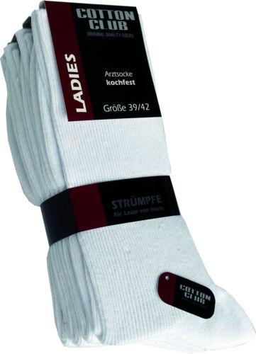 8 Paar weiße Damensöckchen weiß im 8er Pack Damen-Baumwoll-Socken
