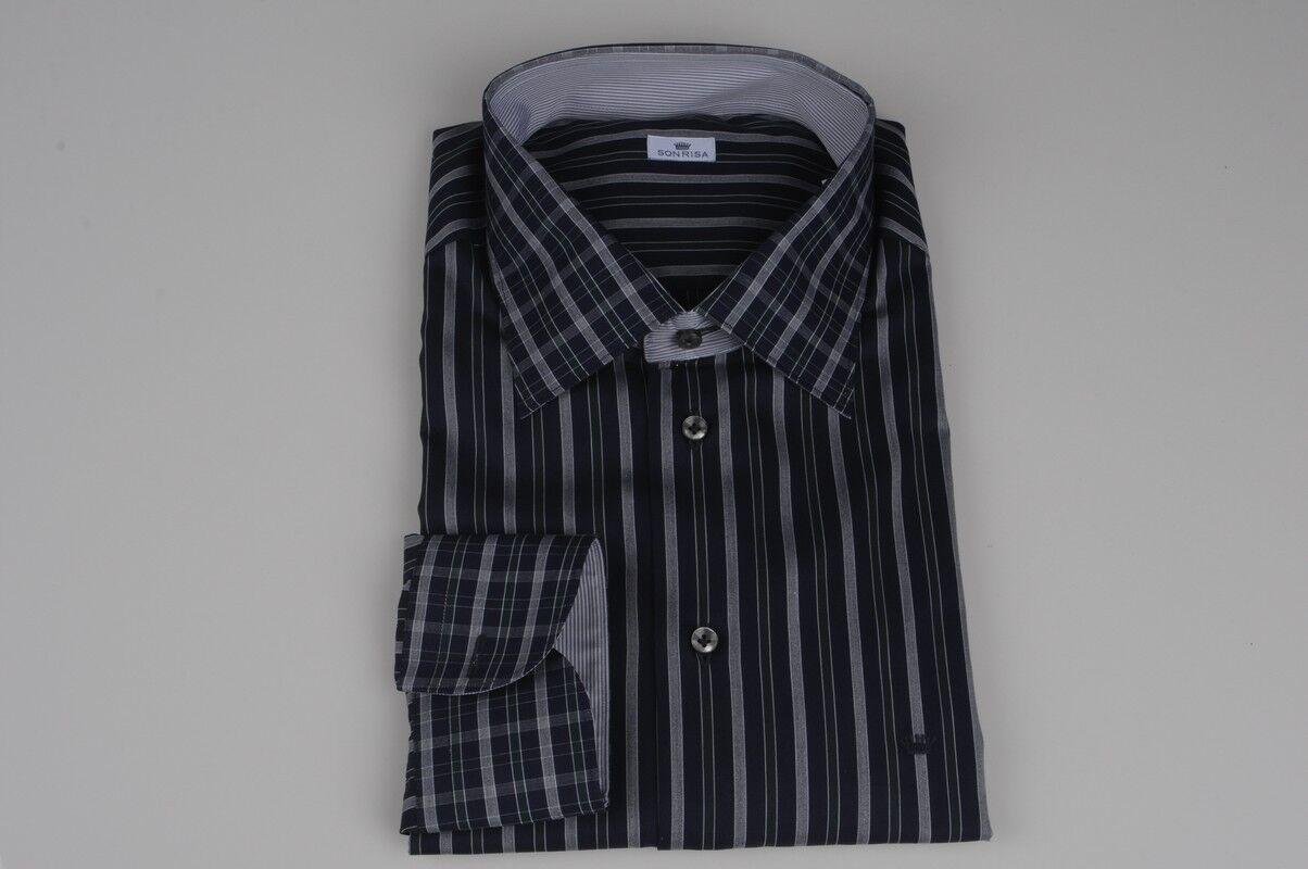 Sonrisa  -  Camisas - hombre - Azul - 218326A181454