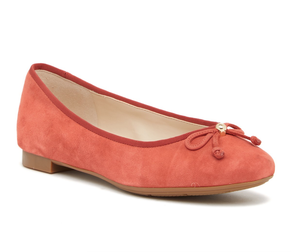 170 Cole Haan Wouomo Lace Bow Suede Btuttiet Flats Slip On sautope