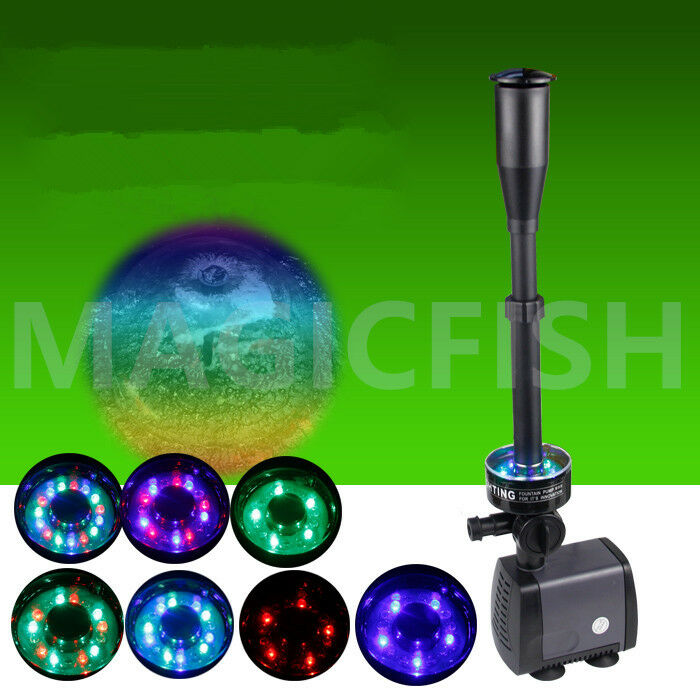 Coloreful Fish Pond Water Fountain Pump LED Light Submersible Pump Pump Pump Garden Decor 7a704a