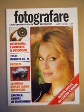 FOTOGRAFARE n°3 1982 - Test Minolta XG-M Reflex Canon Autofocus  [G591]
