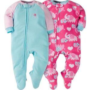 Gerber Toddler Girls 2 Pack Micro Fleece Elephant Blanket