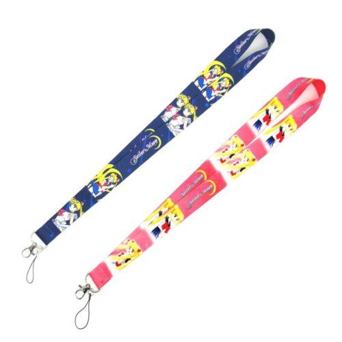 Anime Sailor Moon Cartoon Mobile Phone Rope Hanging Neck Lanyard Ho/_
