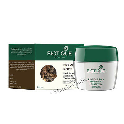Biotique Musk Root Fresh Growth Nourishing Treatment Pack For Hair Treat 230g