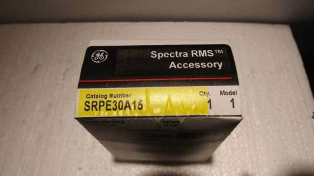 GE Spectra series SRPE30A15 15amp circuit breaker rating plug