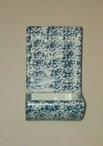 Vintage McCoy Pottery WALL POCKET #151 RARE Blue Speckled VERY NICE COLLECTIBLE