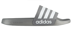 61ad8bb6fde1 New adidas Men s Adilette CloudFoam Slides Gray Sandals B42212 Beach ...