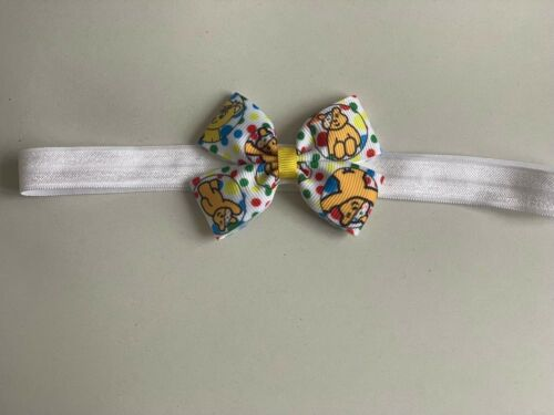 Children In Need Pudsey Bear Hair Accessories Clip Or Soft Headband