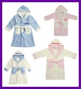 de4c2a1d7 Personalised Children's BOYS GIRLS Bath Robes Dressing Gowns 2-6 ...